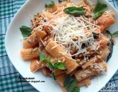 Паста с тунцом, базиликом и томатно-сливочным соусом. Очень вкусный вариант ужина в итальянском стиле. Приятного аппетита! #edimdoma #cookery #recipe