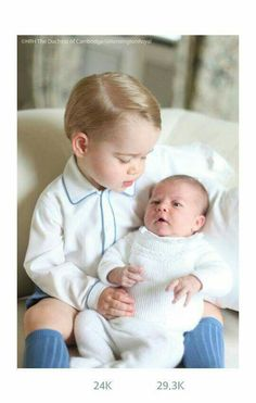 Prince George And Princess Charlotte. Photo Taken By Mom  Kate , mid May 2015, Released June 6, 2015. At Anmer Hall.