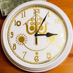 Tick Tock It's A Small World Inspired Foiled Wall Clock