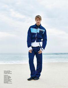 GQ Portugal: Jason Morgan Brings High Fashion to the Beach
