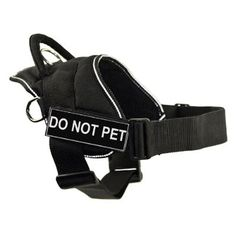 DT Fun Works Harness, Do Not Pet, Black With Reflective Trim, Small - Fits Girth Size: 22-Inch to 27-Inch *** Be sure to check out this awesome product.