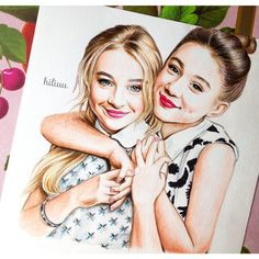 Drawing of Sabrina Carpenter (blonde hair) who resembles my character Mia for my recent Nanowrimo Also pictured is Rowan Blanchard. Best Friend Drawings, Bff Drawings, Amazing Drawings, Beautiful Drawings, Art Drawings Sketches, Easy Drawings, Amazing Art, Awesome, Sabrina Carpenter