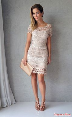* Vestido Vanessa Montoro - Todo en calado ... (crochet) - País mamá