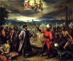 The Athenaeum - Allegory on the Declaration of the War of Constantinople (Hans von Aachen - )