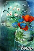 Flower in the glass Random Gif, Glass, Flowers, Drinkware, Florals, Flower, Bloemen, Glas