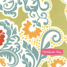 Secret Garden Paprika Grand Tapestry Yardage  SKU# SH5023-PAPR-D  Secret Garden by Sandi Henderson for Michael Miller Fabrics