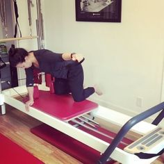 """Threading the needle. Seems simple, but of course it isn't 😊 Lots of core work here- you're like, """"what? That's arm work! Pilates At Home, Pilates Reformer Exercises, Pilates Studio, Pilates Workout, Pilates Routines, Arm Work, Total Gym, Yoga For Stress Relief, Core Stability"""