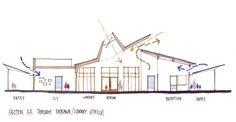 Basic principles: Natural ventilation, Natural light, Pleasant spaces, Efficient construction techniques, High thermal mass.