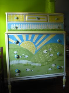 refinished dresser for the nursery