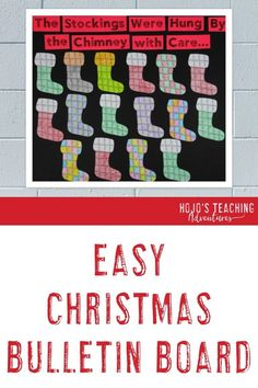 This Christmas bulletin board has a NO PREP option perfect for the busy elementary teacher this December. Click to see how you can make this work as a hallway display, plus check out all the great activities at the blog post. Great for 1st, 2nd, 3rd, 4th, or 5th grade kids. #ChristmasBulletinBoard #ClassroomDecor #Elementary #ElementaryChristmas #HoJoTeaches