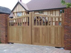 Eagle Automation was established in 1988 and is now one of the leading gate automation and security Wooden Fence Gate, Fence Gate Design, Wooden Gate Designs, Driveway Entrance, Driveway Ideas, Timber Gates, Gate Automation, Custom Gates, Automatic Gate