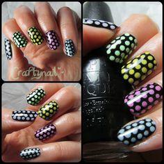 pastel dotticure nail art