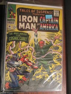 Tales of Suspense #80 Iron Man & Capt. America RED SKULL'66 COLAN KIRBY STAN LEE