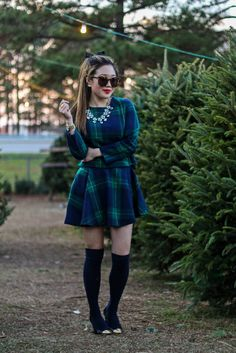 { matching plaid set for the holidays }