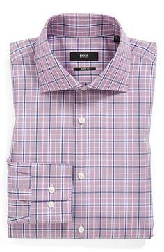 BOSS HUGO BOSS 'Miles' Sharp Fit Check Dress Shirt | Nordstrom