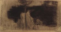 """JAN PREISLER Study for a page illustration for James Abbotts McNeill Whistlers's """"Ten O'Clock Lecture"""" (charcoal drawing), 1903 James Abbott Mcneill Whistler, Charcoal Drawing, Drawings, Illustration, Clock, Study, Painting, Google Search, Art"""