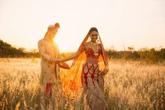 Couple shoot of Indian couple at sunset.  Photos taken at Rosemary Hill, Pretoria.  By Coba Photography from Cape Town.