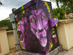 Orlando City Soccer Club - Painting the City Purple Sunshine Homes, Orlando City, Lions, Lion Sculpture, Soccer, Florida, Statue, Purple, Den