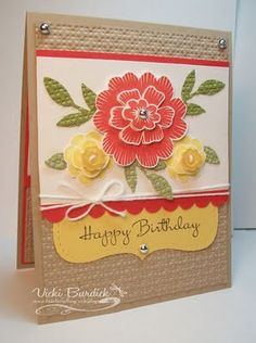 Array of Sunshine card using poppy parade, pear pizzazz and daffodil delight.
