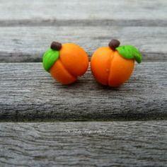 Boucles d'oreilles puce abricot deux choix