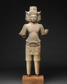 Standing Brahma - Period: Angkor period Date: ca. first quarter of the 10th century Culture: Cambodia Medium: Stone
