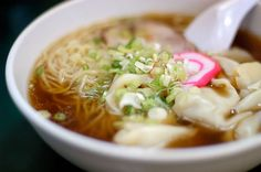 Ramen... It's a Japanese noodle dish. It consists of Chinese-style wheat noodles served in a meat- or fish-based broth, often flavored with soy sauce or miso, and uses toppings such as sliced pork, dried seaweed, kamaboko, green onions, and occasionally corn. Itadakimasu!