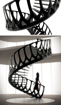 spinal spiral stair system inspired by vertebrae