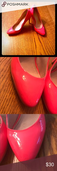 Colin Stuart HTF Neon Pink 👠 Heels!! Previously Loved Size 6.5 Colin Stuart Neon Pink Heels!!! Still A TON of wear left in these beauties!! Feel free to make me an offer !! Colin Stuart Shoes Heels