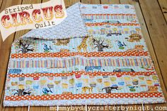 Use this strip style quilt pattern with Apple Hill Farm quilt patterns instead of circus pattern. Substitute patterned fabrics for contrasting strips. Mommy by day Crafter by night: July 2012