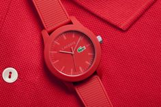Introducing the #Lacoste1212 #watch for both #men & #women in #red. The Lacoste poloshirt in a watch collection.