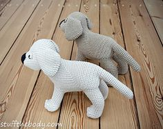 Gus The Labrador Puppy/Dog Amigurumi Pattern by StuffTheBody