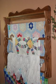 Quilt Rack, Solid Oak, Custom Handmade