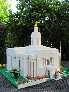 Lego Temple Creations, these are neat, instructions to build one with your family.  Love this idea