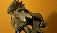 """Sidestepper, Ed Mell, 2013.  Bronze, 24"""" x 20"""" x 18""""."""
