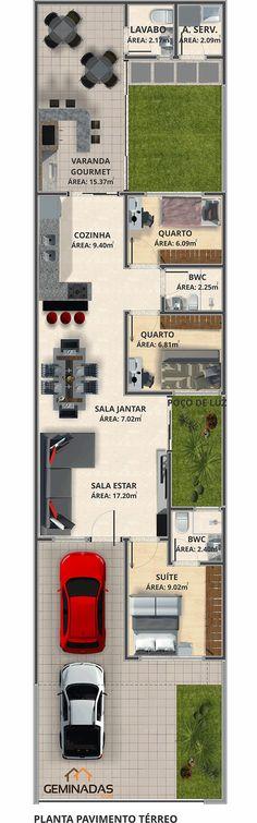 Pinterest: @claudiagabg | Casa en residencia 3 cuartos 1 cabaña