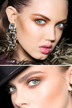 The accessory: Lindsay Wixson sports major statement earrings