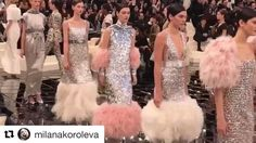 The feathers the belts and the sparkles at #chanelhautecouture @chanelofficial #ellevn #ellevietnam #chanel #repost from @milanakoroleva  via ELLE VIETNAM MAGAZINE OFFICIAL INSTAGRAM - Fashion Campaigns  Haute Couture  Advertising  Editorial Photography  Magazine Cover Designs  Supermodels  Runway Models