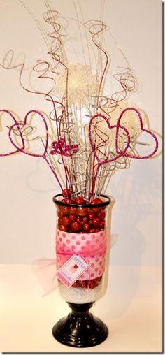 Valentine glitter arrangement