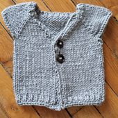 Ravelry: Gilet Basik pattern by Elfie Albaret In French, but can translate, Top down, baby to child(2-4yrs?)  Bulky yarn