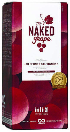 """""""The Naked Grape Cabernet Sauvignon offers bold flavors of dark fruit and blackberries ... The 3L Box gives you the freedom to enjoy one glass at a time in a package that keeps the wine fresh for four weeks after opening!"""" – Winemaker's notes"""