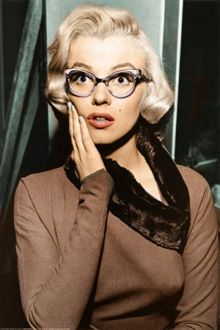 There was definitely a 1950s influence on this one. It's intersting that I actually drew glasses, because at the time, I thought glasses were pretty unsexy, mostly because I'd had glasses since I was 8. Clearly glasses worn for fashion purposes were different -- Marilyn Monroe cat eye glasses