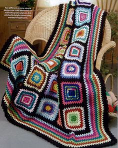 What a funky crochet afghan!
