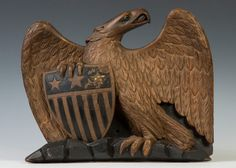 Carved & Gilt Wood Eagle | Cottone Auctions
