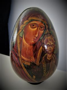 Madonna with Child and the Archangels Large Russian Orthodox Egg