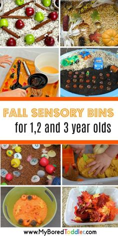 These fall activites for toddlers will keep your or 3 year old busy all Autumn or Fall! Filled with Fall sensory activities, Fall sensory bins and Fall craft ideas - all perfect or the toddler or preschool age group! Toddler Play, Toddler Snacks, Toddler Preschool, Toddler Crafts, Fall Preschool, Baby Play, Preschool Crafts, Preschool Teachers, Preschool Ideas
