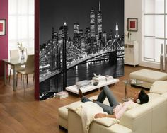 Photo Wallpaper BROOKLYN BRIDGE NEW YORK Designer Wall Mural (114) | eBay