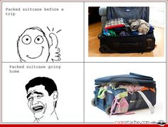packing before and after
