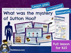 A full lesson for about Sutton Hoo (an Anglo-Saxon burial site discovered in England), including a detailed lesson plan, Powerpoint and pupil resource . Primary History, Teaching History, Teaching Resources, Sutton Hoo, Anglo Saxon, Vikings, How To Find Out, Mystery, Activities