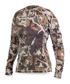 The First Lite women's base layer system is a no frills, no fluff base layer system for the dedicated woman hunter. The Lupine Long Sleeve Crew is the first top to go on everyday for any hunt in any condition. Womens Hunting Clothes, Camouflage Patterns, Outdoor Woman, Outdoor Life, Outdoor Outfit, Military Jacket, Long Sleeve, Mens Tops, Women's Camo
