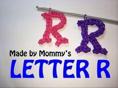 Rainbow Loom Letter R Charm Using Just the Hook